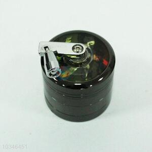 Black 4 layer kirsite cigarette grinder