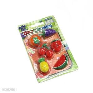 Factory Wholesale Fruit Design Cartoon Rubber/Eraser for Student