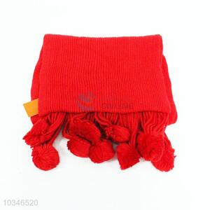 Good quality cheap best red simple scarf