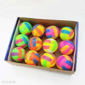 Volleyball Design Rubber Children Led Flash Bounce Ball