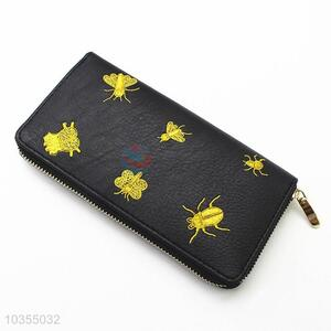 Wholesale low price women embroidered long wallet