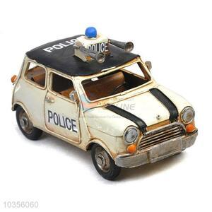 Factory promotional good quality retro police car model
