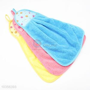 Dry Wipe Hand Towel Candy Color Hanging Wash Bath Towel