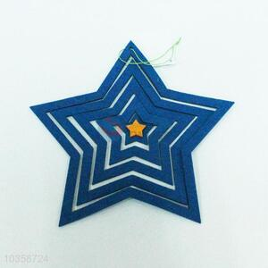 Blue star shaped hanging crafts for home decoration