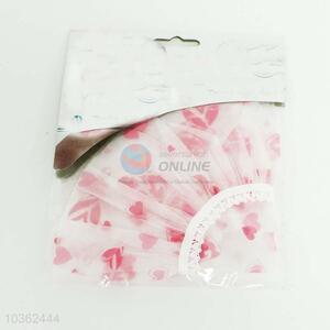 Pink Heart Pattern Shower Cap
