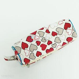 Competitive price heart printed pu pen bag