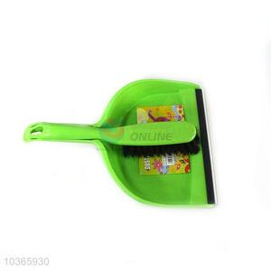 Wholesale Nice Green Plastic Dustpan with Brush for Sale