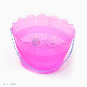 Cute Lace Side Plastic Bucket for Easter