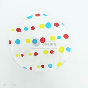 Hot Sale Colorful Dots Printed Shower Cap