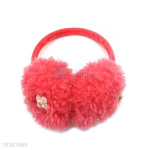 China maker cheap winter fuzzy flower earmuffs