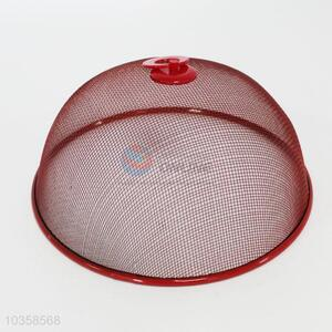 Red iron mesh food cover for sale,34.5cm
