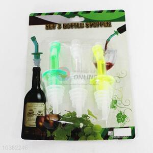 3pcs Plastic Bottle Stoppers Set