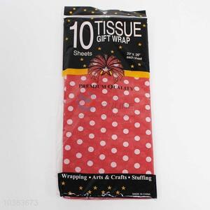 10pc Packing paper Red Ornament spot pattern
