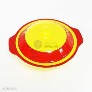 Double Color Melamine Bowl With Lid