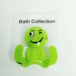 Best selling plastic lovely design green bath hook,7.5*7cm