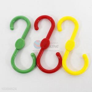 Wholesale S Shaped Plastic Hooks 3Pcs
