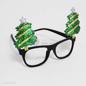 Party glasses with cute Christmas Tree decoration