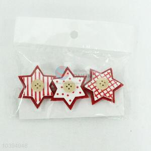 Promotional Wholesale 3PC Christmas Wooden Clip