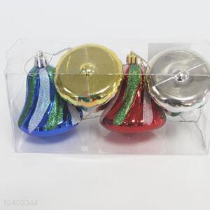 Festival Decorations 4pcs Christmas Bells Pendants Set