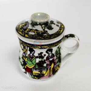 Fashion design cheap ceramic water cup