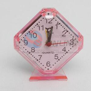 Rhombus Transparent Alarm Clock