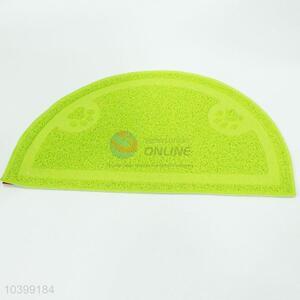 Simple cute green semi-circular pet mat