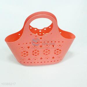 New Design Hollow Out Plastic Basket with Handle
