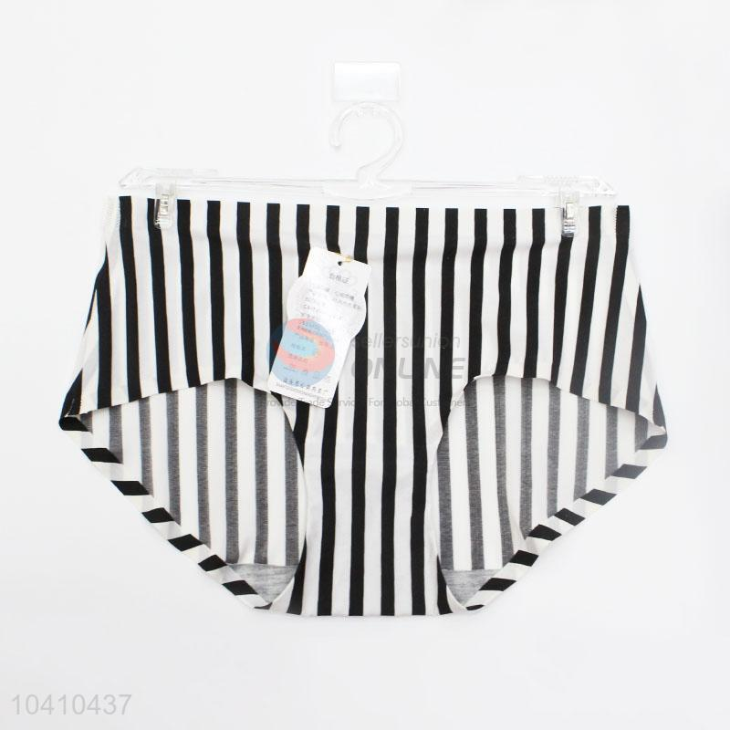 New Arrival Sexy Striped Woman Ice Silk Underwear Panties For Young Girls 2001db6e5