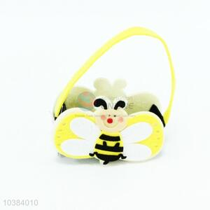 Easter Decorations Non-woven Small Basket in Bee Shape