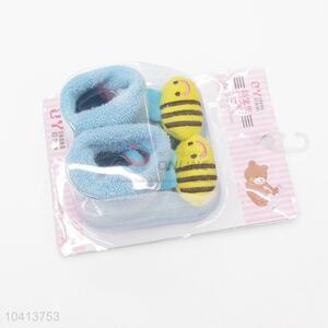3D Bee Head Cotton Kids Baby Sock