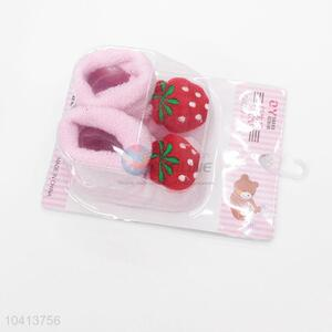 3D Strawberry Head Cotton Kids Baby Sock