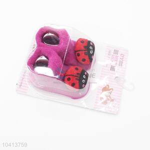 3D Ladybird Head Cotton Kids Baby Sock