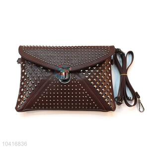 Low price top selling large women wallet with rivets