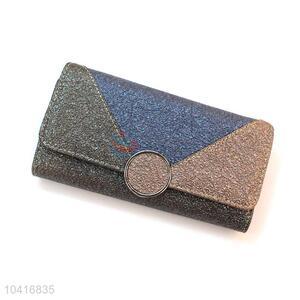 Factory sales bottom price triple-folded women wallet