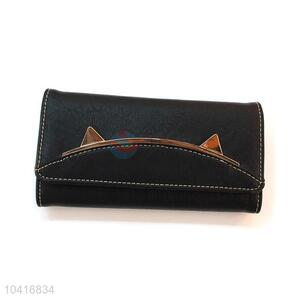 Nice popular design triple-folded women wallet
