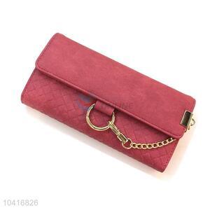 Custom triple-folded women purse women pouch