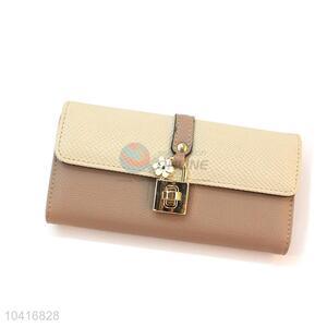 Low price triple-folded women wallet women pouch