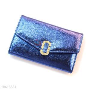 Wholesale low price middle triple-folded women wallet
