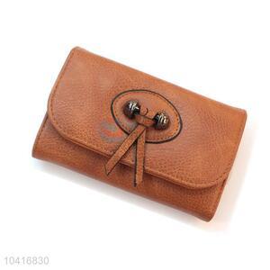 Popular cheap triple-folded women wallets