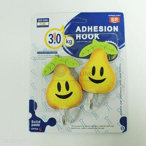 Hot Sale 2PC Adhesive Hooks in Pear Shape