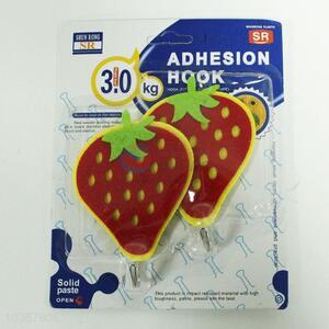 Pretty Cute 2PC Non-woven Adhesive Hooks in Strawberry Shape