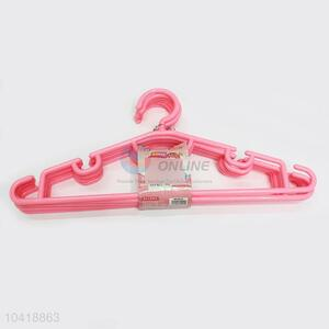 Cute Pink Color Plastic Non-slip Clothes Hangers