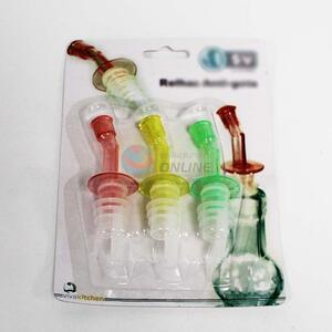 High sales cool 3pcs red/yellow/green bottle stoppers