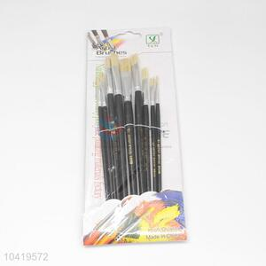 Student Black Handle Nylon Art Paintbrush Set