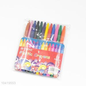 12 Colors Plastic Crayon for Drawing/Painting
