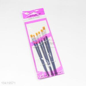 Blue Handle Nylon Art Paintbrush Set