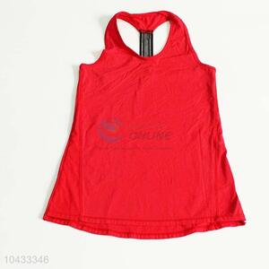 Factory Sale Fashion Red Singlet for Woman