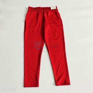 High quality promotional women red trousers