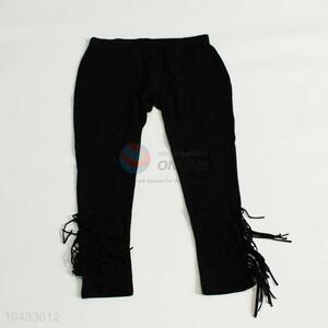 New design factory sales fashion women trousers with tassels