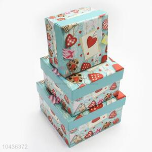 Special Design 3pcs Deluxe Paper Gift Box for Girl
